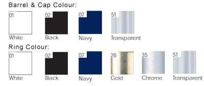 BIC Pivo Clip Pen colours