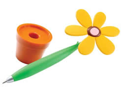 Pen with flower