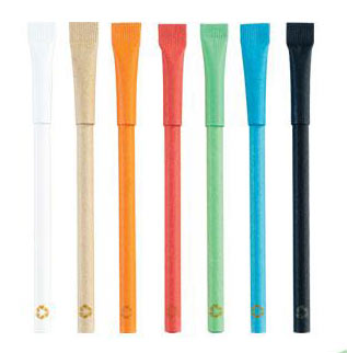 Eco Friendly promotional pens rolled up paper