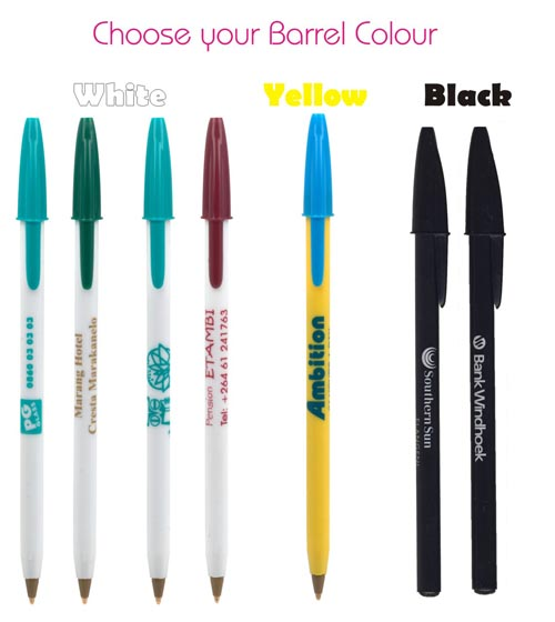 Bic Stick round barrel colours