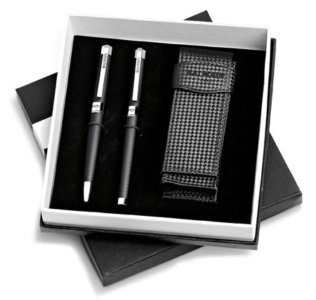 Balmain Mende Ballpoint Pen and Rolerball Pen Set